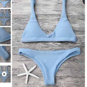 Scoop Bikini set - blue